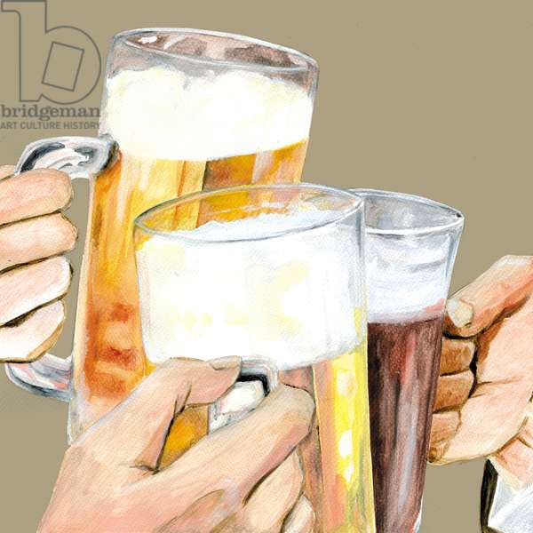 cheers,2014,(Acrylic paint on paper,Photoshop)