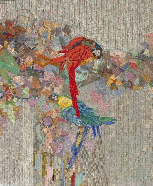 Flowers and birds, 1914 (mosaic)