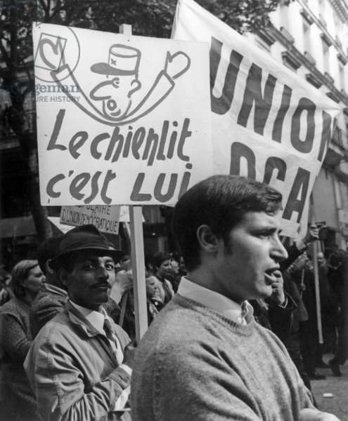 CGT Demonstration, 29th May, 1968 (b/w photo)