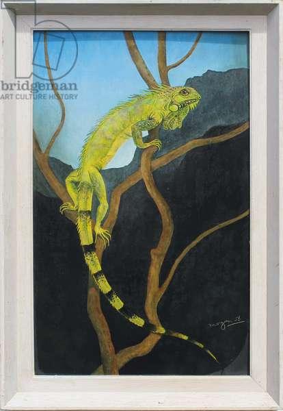 Chameleon on a Tree, 1956 (oil on board)