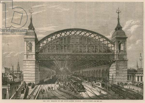 The City Terminus of the South-Eastern Railway, Cannon Street, London (engraving)