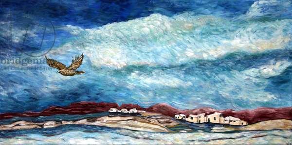 New Mexico Landscape, 2015 (acrylic on canvas)