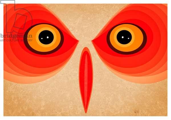 Owl, 2015 (digital art)