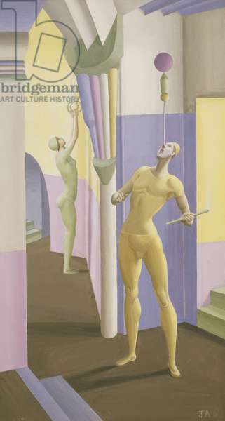 Jugglers Practising, 1927 (tempera on board)
