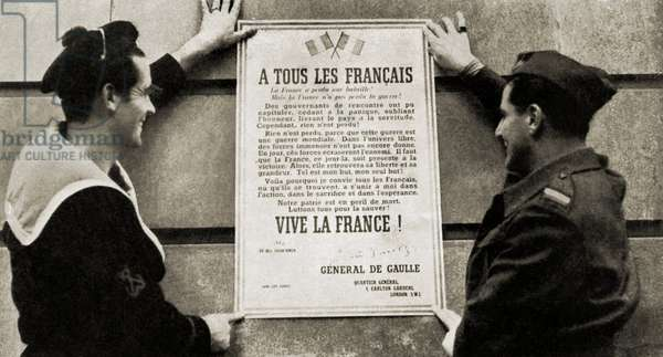 World War 2: General de Gaulle's first manifesto