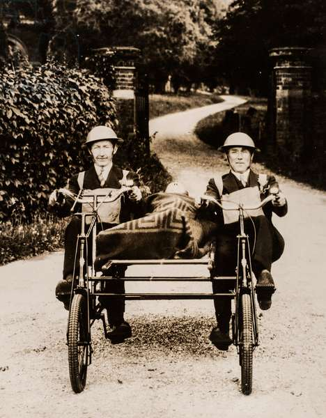 Dual Cycle Ambulance Demonstrated at Birmingham, Birmingham, UK, 1939 (silver gelatin print)