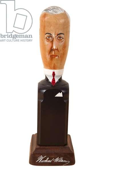 Woodrow Wilson, 1994 (polychromed bedpost)
