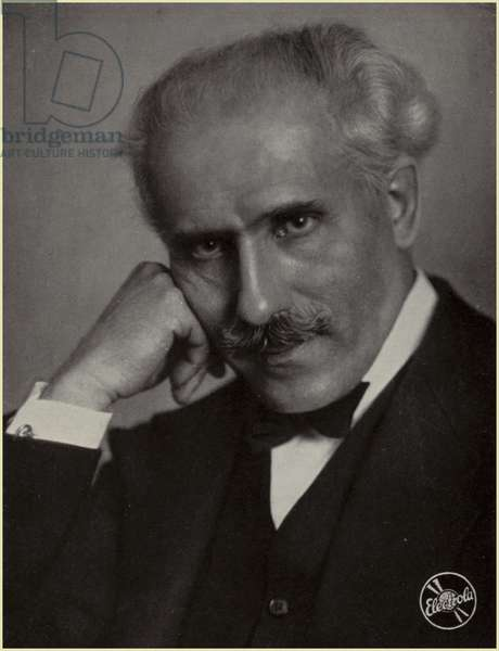 Portrait of Arturo Toscanini (b/w photo)