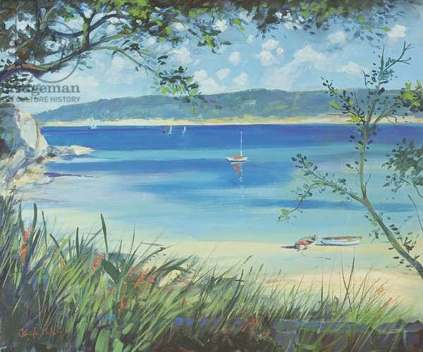 Salcombe, Southsands Beach, 2000 (oil on canvas)