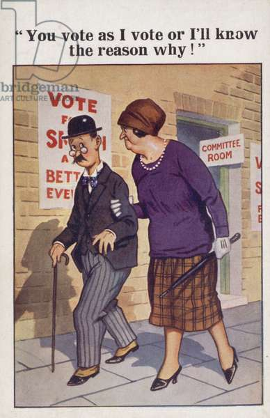 """""""You vote as I vote or I'll know the reason why!"""" (colour litho)"""