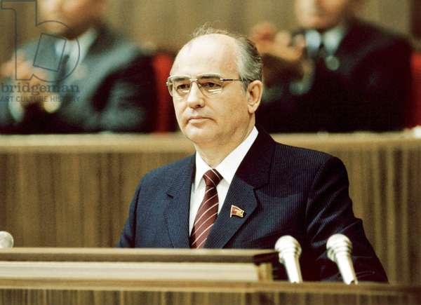 Mikhail Gorbachev, 1986
