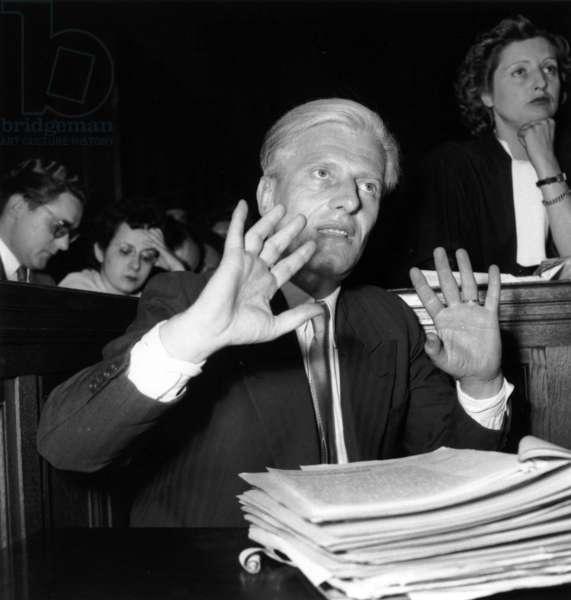 Trial of Otto Abetz (1903-1958) Who Was German Ambassador in Paris during Ww2, July 13, 1949  (b/w photo)