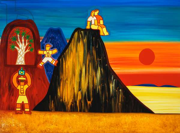 The quiver tree in the cave,2003,(oil on linen)