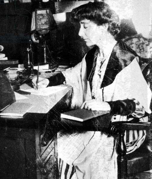 JEANNETTE RANKIN (1880-1973). American suffragist, pacifist, and legislator. Photographed c.1917.