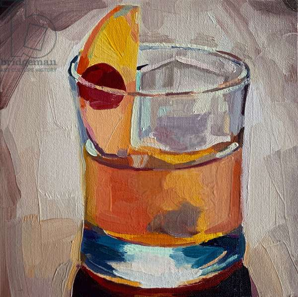 cocktail 4, 2019 (oil on board)