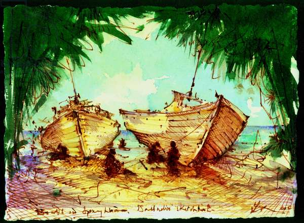 study for boats at SIxmans Bay Barbados