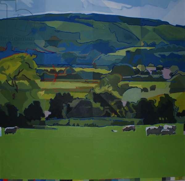 Burpham Sheep, 2009 (oil on canvas)