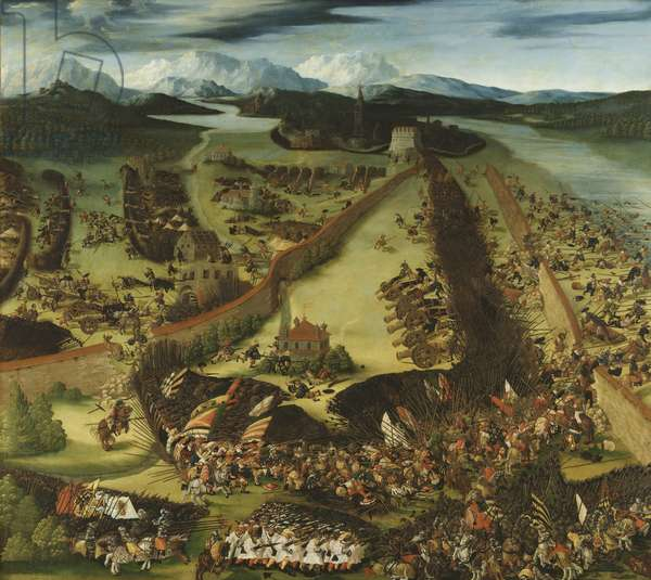 The Battle of Pavia (oil on panel)