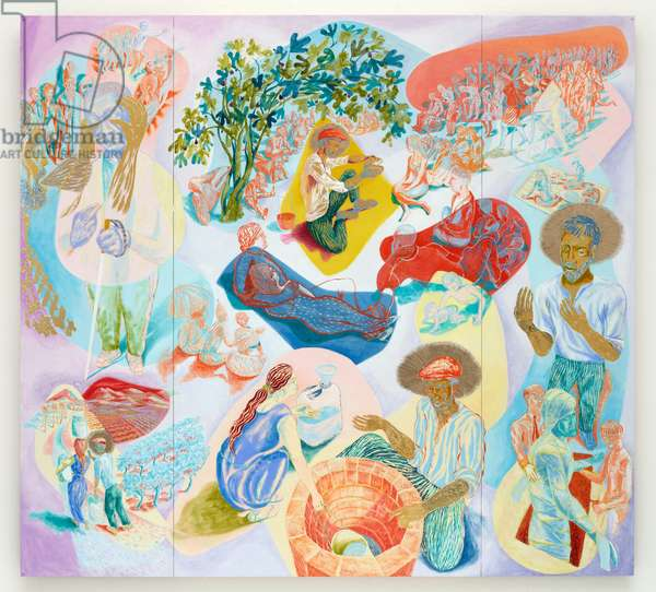 Pastoral Centre triptych, 2013 (oil on wood panel)