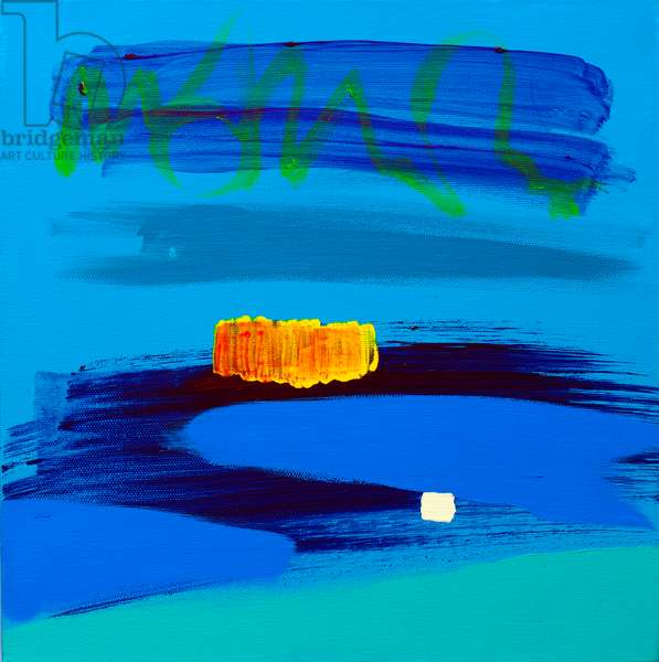 Orange and Midnight Blue, 2017, (acrylic on canvas)
