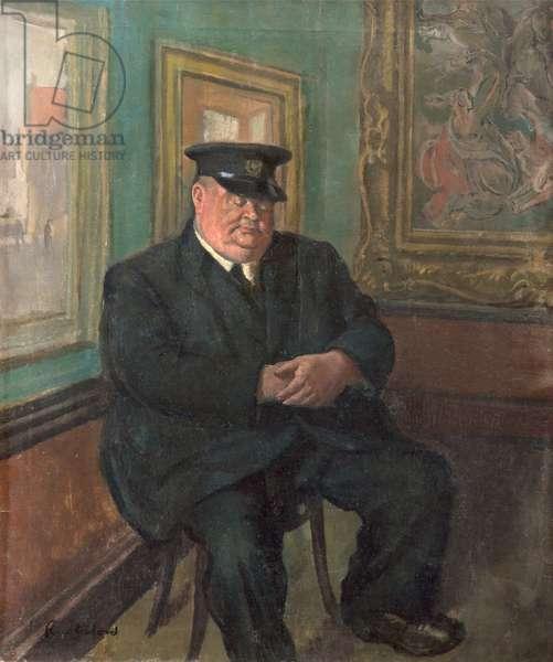 The Custodian, 1947 (oil on canvas)