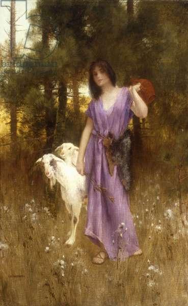 The Shepherdess (oil on canvas)