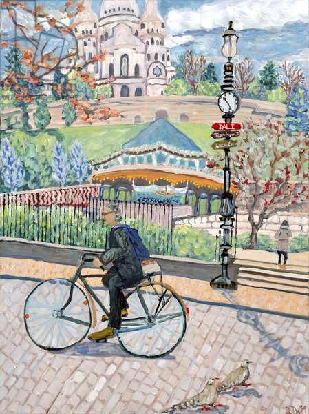 Sacre Coeur View, 2019, (acrylic on canvas)