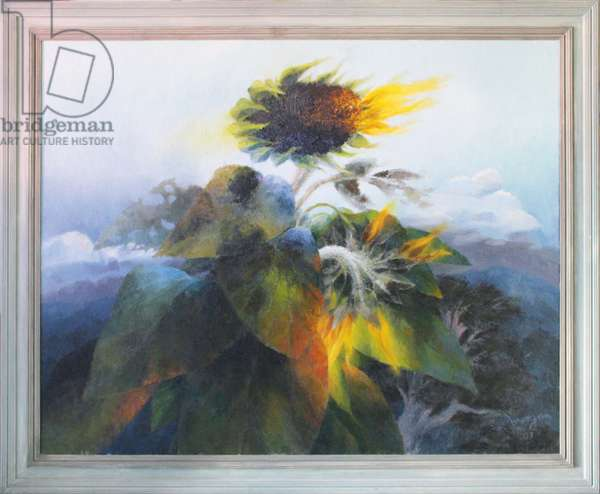 Landscape with Sunflowers, 2001 (oil on canvas)