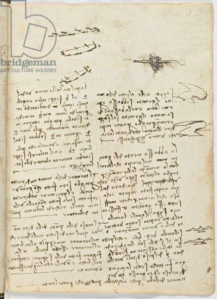 Birds Flight Code, c. 1505-06, paper manuscript, cc. 18, sheet 18 recto