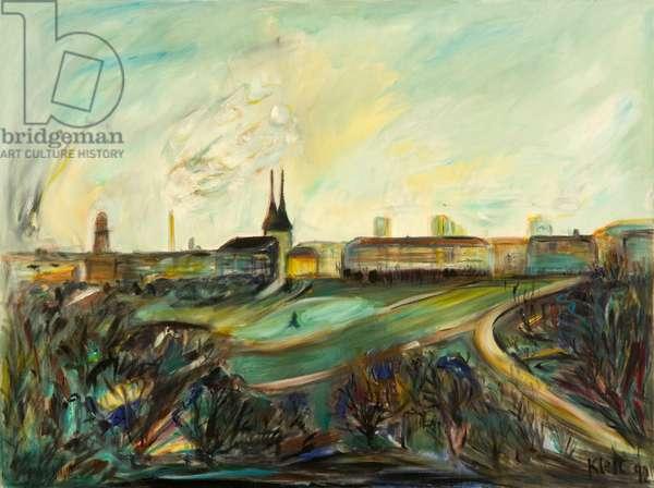 Berlin –Green, 1992 (oil on canvas)