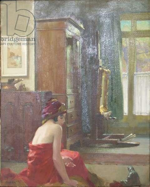 The Artist's Studio (oil on canvas)