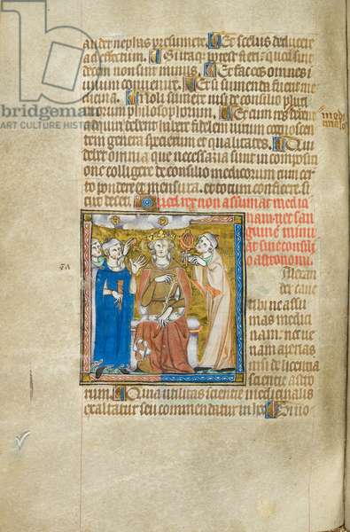 King (Alexander) with an astrologer and a physician