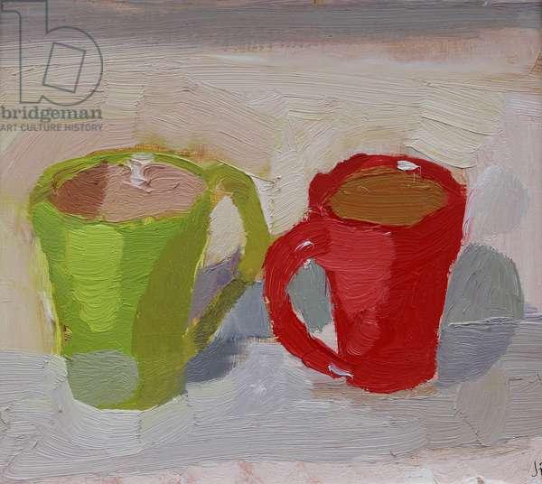 Facing cups