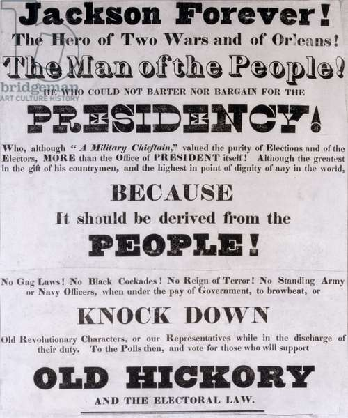 'Jackson Forever', Presidential Campaign Poster (litho)