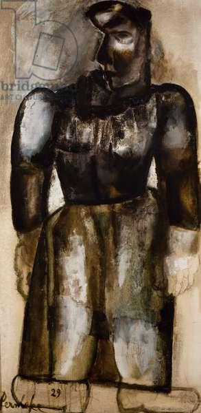 Peasant woman, 1929, by Constant Permeke (1886-1952). Belgium, 20th century.