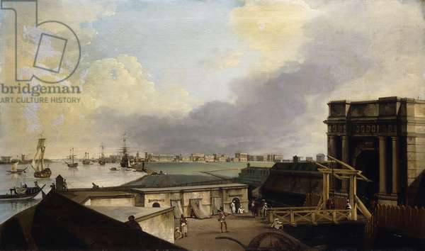 A View of Calcutta taken from Fort William,  (oil on canvas)