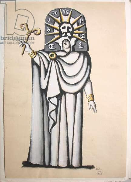Costume design of Oedipus for 'Oedipus Rex', gouache on paper, 47,5 x 32,5 cm, 1926