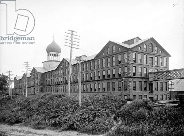 COLT FACTORY, c.1903 Colt Firearms Company, view of armory, Hartford, Connecticut. Photograph, c.1903.