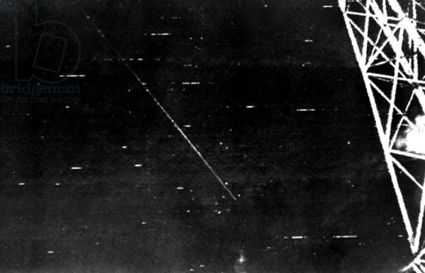 Australia, on the 8Th of October 1957 Melbourne Astronomers Pictured the First Sputnik Satellite Tracking over the City.