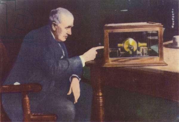 Thomas Alva Edison (colour photo)