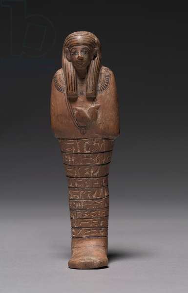 Shawabty of Tashery, New Kingdom, c.1391-1353 BC (painted tamarisk)