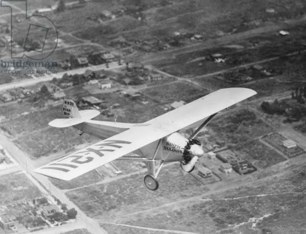 Charles Lindbergh, starting on his flight from New York to Paris on May 20, 1927