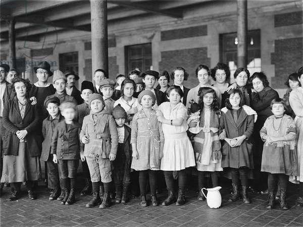 Immigrant children, Ellis Island, New York. c. 1908