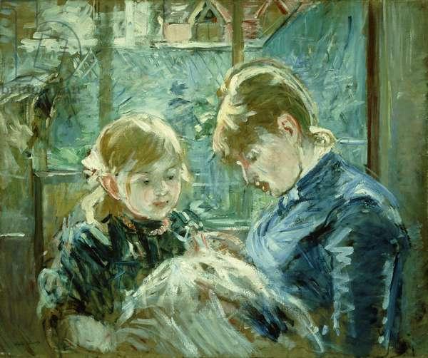 The Dressmaking Lesson; Le Lecon de Couture, 1884 (oil on canvas)