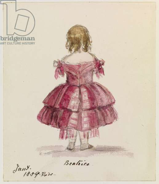 Beatrice, 1859 (pencil, w/c & ink on paper)