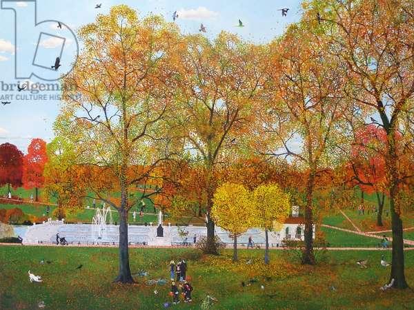 Autumn Fountains, 2011 (oil on canvas)