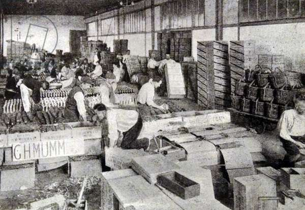 A wine packing house in Champagne
