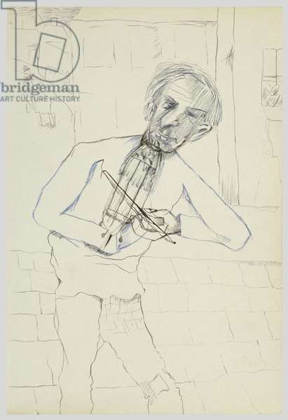 Fiddler, 1940 (ink on paper)
