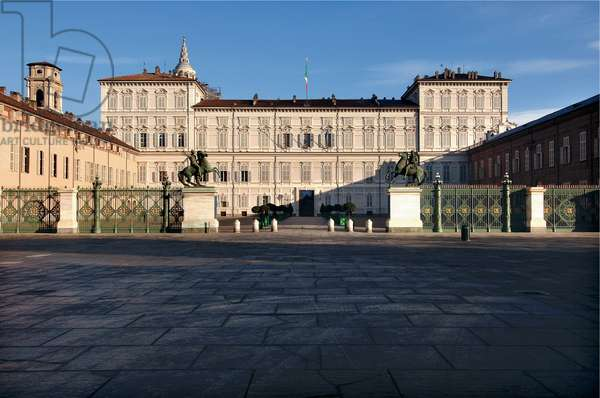 Royal Palace of Turin, exterior view, 1646