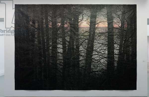 Selva Oscura III, 2014 (acrylic, charcoal, soot, ash, pencil on paper)